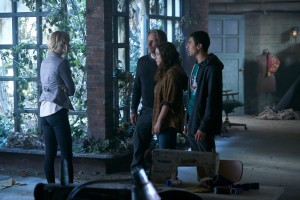 Laura Vandervoort as Elena Michaels, John Ralston as Sasha Antonov, Sofia Banzhaf as Katia Antonov and Alex Ozerov as Alexei Antonov