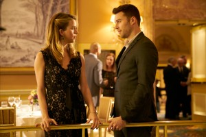 Kim Shaw as Cassie Williams and Peter Mooney as Jeremy Bishop