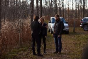 Gregy Bryk as Jeremy Danvers, Laura Vandervoort as Elena Michaels and Greyston Holt as Clay Danvers