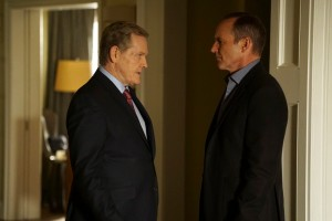 "MARVEL'S AGENTS OF S.H.I.E.L.D. - ""Bouncing Back"" - In the midseason premiere, ""Bouncing Back,"" in the aftermath of his trip to Maveth, Coulson is more determined than ever to get to Gideon Malick and put an end to Hydra once and for all. Meanwhile, Daisy and the team encounter more Inhumans who have powers like they've never seen before, but will they be friends or enemies of S.H.I.E.L.D.? ""Marvel's Agents of S.H.I.E.L.D."" returns for a game-changing second half of Season Three, TUESDAY, MARCH 8 (9:00-10:00 p.m. EST) on the ABC Television Network. (ABC/Eric McCandless) WILLIAM SADLER, CLARK GREGG"