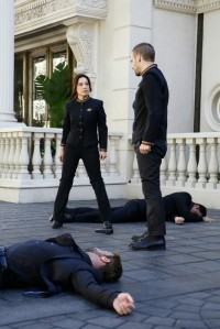 """MARVEL'S AGENTS OF S.H.I.E.L.D. - """"The Inside Man"""" - Coulson and General Talbot are forced to team up and attend a worldwide symposium on Inhumans, where they suspect Malick has an inside man. As the S.H.I.E.L.D. team gets closer to the truth, an unexpected traitor is revealed, on """"Marvel's Agents of S.H.I.E.L.D.,"""" TUESDAY, MARCH 15 (9:00-10:00 p.m. EDT) on the ABC Television Network. (ABC/Nicole Wilder) MING-NA WEN, NICK BLOOD"""