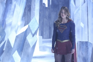 """Myriad"" -- Kara (Melissa Benoist, pictured) must find a way to free her friends when Non and Indigo use mind control to turn National City's citizens into their own army, on SUPERGIRL, Monday, April 11 (8:00-9:00 PM, ET/PT) on the CBS Television Network. Photo: Cliff Lipson/CBS ©2016 CBS Broadcasting, Inc. All Rights Reserved"