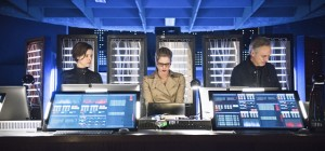 "Arrow -- ""Monument Point"" -- Image AR421b_0373b.jpg -- Pictured (L-R): Audrey Marie Anderson as Lyla Michaels, Emily Bett Rickards as Felicity Smoak and Tom Amandes as Noah Kuttler/Calculator -- Photo: Dean Buscher/The CW -- © 2016 The CW Network, LLC. All Rights Reserved."