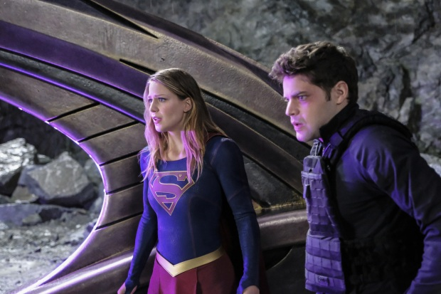 "Supergirl -- ""Supergirl Lives"" -- Image SPG209a_0416.jpg -- Pictured (L-R): Melissa Benoist as Kara/Supergirl and Jeremy Jordan as Winn Schott -- Photo: Robert Falconer/The CW -- © 2017 The CW Network, LLC. All Rights Reserved"