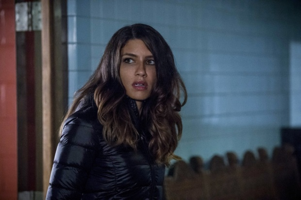 "Arrow -- ""Bratva"" -- Image AR512b_0051b.jpg -- Pictured: Juliana Harkavy as Tina Boland -- Photo: Cate Cameron/The CW -- © 2017 The CW Network, LLC. All Rights Reserved."