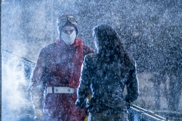 "The Flash -- ""Attack on Central City"" -- FLA314a_0039b.jpg -- Pictured (L-R): Sean Poague as Accelerated Man and Jessica Camacho as Gypsy -- Photo: Katie Yu/The CW -- © 2017 The CW Network, LLC. All rights reserved."